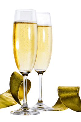 Champaige Glass And Bottle Clipart